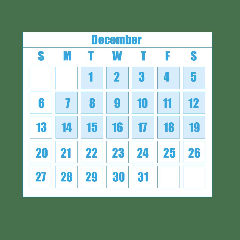 New Term Dates 12