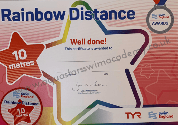 '10m' Rainbow Distance Certificate & Badge 1