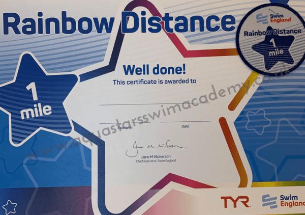 '1 Mile' Rainbow Distance Certificate & Badge 1
