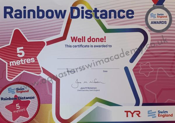 '5m' Rainbow Distance Certificate & Badge 1
