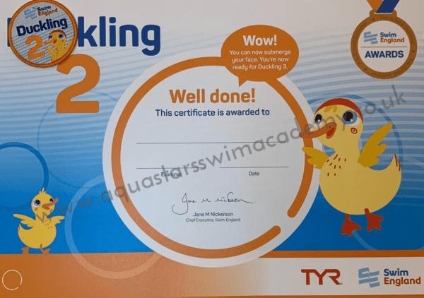'Duckling 2' Certificate & Badge 1