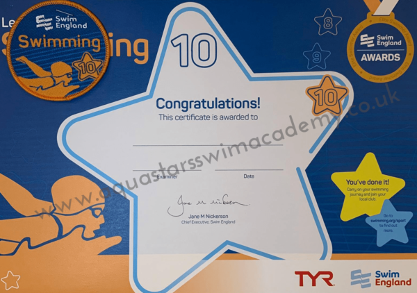 'Stage 10' Certificate & Badge 1