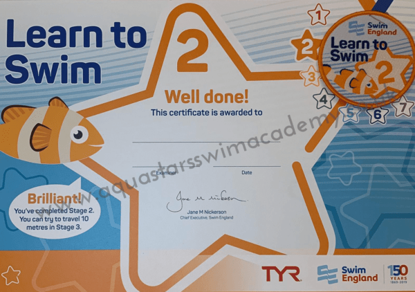 'Stage 2' Certificate & Badge 1