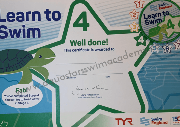 'Stage 4' Certificate & Badge 1